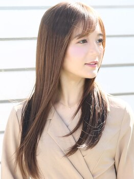 アース 越谷店(HAIR&MAKE EARTH)の写真/大人気★髪質改善ストレート♪肌にも髪にも優しくて、まっすぐになりすぎないナチュラル感が叶う♪