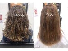 ヘアーメイク セラヴィ(Hair Make C'EST LA VIE)の雰囲気(薬剤を全く使用せず髪質改善ハリスノフストレートトリートメント)