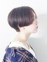 オーブ ヘアー アムール 学芸大学店(AUBE HAIR amour)【AUBE HAIR】ハンサムマッシュショート_ココアブラウン