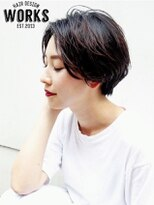 ワークス ヘアデザイン(WORKS HAIR DESIGN)透明感ショートヘアスタイル