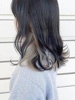ルッツ(Lutz. hair design)【ダブルカラー】ブラック×ベージュインナー