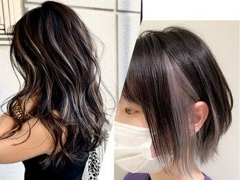 フィーユ(feey)の写真/SNS映え☆「インナーカラー」「コントラストハイライト」「脱白髪染めハイライト」も武蔵新城で叶います♪