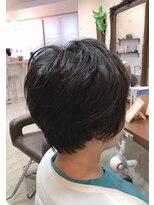 クロムヘアー(CHROME HAIR)ショートパーマスタイル