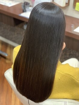 ヘアーメイク ガヤ(hair make Gaya)の写真/《カット&縮毛矯正&プレックスTr》傷みが気になる縮毛矯正もGayaならダメージレスに美髪が叶う♪