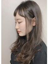 ピエドプールポッシュ(PiED DE POULE POCHE)* long hair * × short bang
