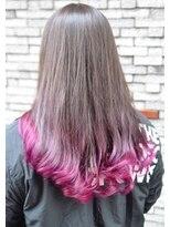 ヘアーデザイン キャンパス(hair design Campus)【裾だけちょこっと♪】裾バイオレットデザインカラー☆
