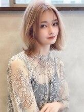 アグ ヘアー イフ 熊本西区店(Agu hair if)《Agu hair》透明感カラーの韓国風くびれロブ