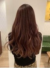 スウィッチグラン(hair salon switch grand)ハイライト×暖色系カラー