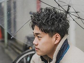 ヒロギンザ 六本木店(HIRO GINZA)の写真/【最終受付21時】形状記憶パーマでさりげない男の色気を演出。毎朝のスタイリングが格段に違う[理容室]