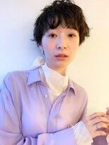 ラパンセブルー(LA PENSEE BLEU)【LA PENSEE】カーリーマッシュショート パーマ 黒髪