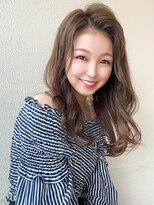 シェルハ(XELHA)アフロート斎藤 かきあげ前髪韓国風ヘア大人セミロング