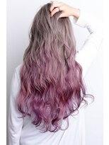 【REJOICE hair -EN-】ホワイティアッシュ-ピンクグラデーション
