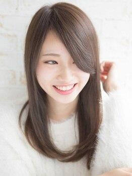 ライズヘア サニー(RIZE HAIR SUNNY)の写真/【オリジナル縮毛矯正】髪が傷んでいても施術OK◎形状・手触りも改善してサラツヤのストレートヘアに!