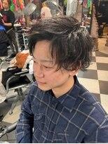 トリックストア(TRICK STORE)かき上げマッシュショートヘア