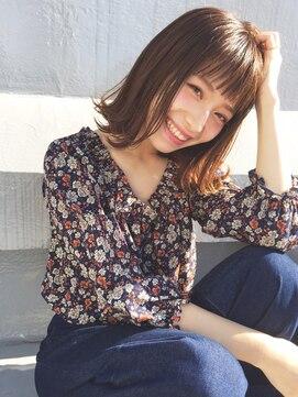 アルバム シブヤ(ALBUM SHIBUYA)王道切りっぱなしボブ_ボルドーワンレンフェザーロング_71743
