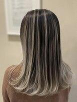 オーブ ヘアー クローバー 名古屋3号店(AUBE HAIR clover)【AUBE HAIR】エアタッチグラデ_スリークミディ