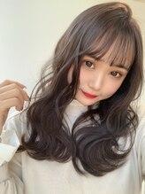 アンバー 心斎橋(AMBER)Aライン柔らかふんわりロング☆透明感ダークアッシュ