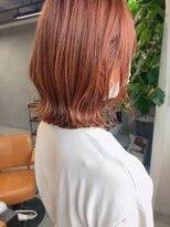 ヴェール(Veil)透明感白髪染め/オレンジピンク/ブリーチなし