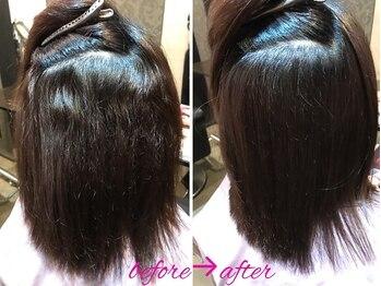 髪質改善と縮毛矯正の専門店 サンティエ(scintiller)の写真/【scintillerオリジナル弱酸性縮毛矯正】髪のお悩みを聞かせてください!今までにない、肌触り、うるツヤへ