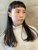 ラパンセジョーヌ(LA PENSEE JAUNE)【LA PENSEE】前髪ショートな黒髪大人ロング