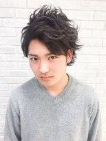 【メンズモテカジ】前髪かきあげ七三ショート