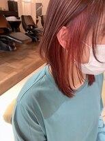 ヴェール(Veil)ボルドー/インナーカラー/ウルフスタイル/白髪染め/miokuwamoto