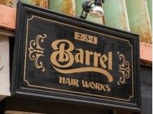 ヘアーワークス バレル(HAIR WORKS Barrel)の雰囲気(こちらの看板が目印です。階段下に立て看板もあります!)