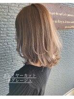 ヘアアンドビューティー クローバー(Hair&Beauty Clover)layer cut × greige
