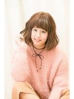 ウィルゴ(VIRGO)【VIRGO】暖色系ピンク 小顔うぶバングナチュラルボブカール☆