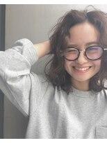 バロン 新宿店(baLon.)眼鏡×ワイドカール×ウェーブ