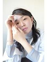 【soy-kufu】黒髪ウェットミディ