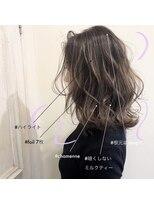 スーベニール(souvenir)■白髪対応■明るめミルクティーベージュ ハイライト3Dカラー