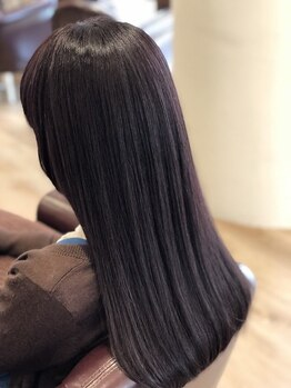 シエル 奈良店(CIEL)の写真/【月曜OK☆朝9時~】≪縮毛矯正+カット¥8500≫ただクセを伸ばすだけじゃない、自然な仕上がりに満足度◎