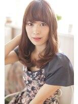 ジーナフクオカ(Zina FUKUOKA)☆Zina☆大人かわいいシースルーバングセミディ2