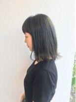ヘアメイク オブジェ(hair make objet)オリーブグレージュボブ KAI