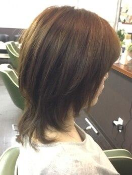 ヘアーサロンソラ(hair salon sora)の写真/【当日予約もOK】髪と頭皮に優しい♪傷みにくく、 染みないカラーで気になる白髪を自然に染め上げます。
