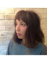 ヘアデザイン グリッター(hair design GLITTER)大人可愛いショートバングロブ♪