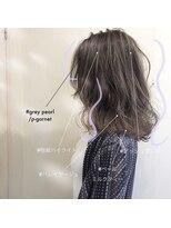 スーベニール(souvenir)■白髪対応■ミルクティーグレージュグレイアッシュ3Dハイライト
