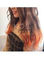 ケーオーエス(KOS beauty hair, nail & eyelash)オレンジ裾カラー
