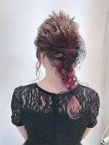 アリス ヘア デザイン(Alice Hair Design)Alice☆四つ編み×チュールダウンアレンジ