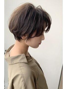 カイル (KAIL)【仙台美容室 KAIL】大人の小顔 ひし形ショートボブ 前髪なし