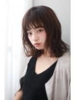 ネオリーブクアトロ 横浜西口店(Neolive quattro)お洒落ミディアムボブパーマ×暗髪アッシュ