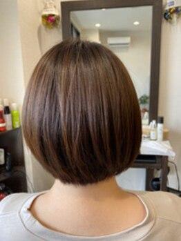 エニー(Any Hair Life)の写真/ダメージレス施術で艶感UP◎色持ちも抜群!<アミネージュシステム>で髪に優しく理想のカラーをご提供♪