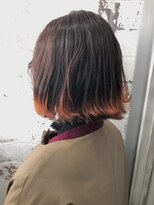 エル(ailes)オレンジ×オレンジの袖カラー☆