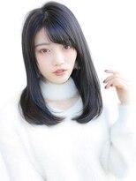 《Agu hair》シンプルストレートセミディ