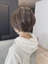 オトナ可愛いショートレイヤーボブ×ハイライト×髪質改善