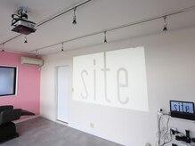 サイト(site)の雰囲気(白い壁にはプロジェクターで映像が浮かびます。)