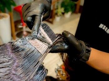 スキルヘア(SKILL HAIR)の写真/《カット+グレイカラ-(白髪染め)+トリ-トメント¥5940》ダメ-ジレスにこだわり優しく白髪をカバ-致します*