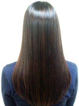 """ラヴィータ(La vita)の写真/もう縮毛矯正で失敗しない!!回数を重ねるほど、傷むどころか、さらっと自然になびく柔らか""""美艶髪""""に♪"""