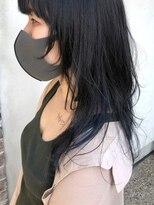 ヘアー アイス カンナ(HAIR ICI Canna)ブルーのインナーカラー×レイヤースタイル
